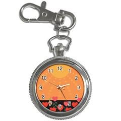 Love Heart Valentine Sun Flowers Key Chain Watches by Simbadda