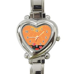 Love Heart Valentine Sun Flowers Heart Italian Charm Watch by Simbadda