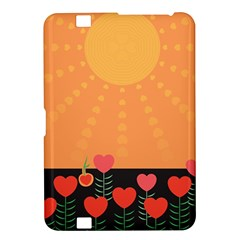 Love Heart Valentine Sun Flowers Kindle Fire Hd 8 9  by Simbadda