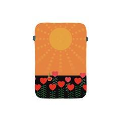 Love Heart Valentine Sun Flowers Apple Ipad Mini Protective Soft Cases by Simbadda