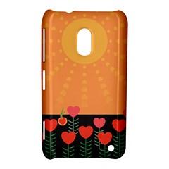 Love Heart Valentine Sun Flowers Nokia Lumia 620 by Simbadda