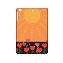 Love Heart Valentine Sun Flowers Ipad Mini 2 Hardshell Cases by Simbadda