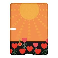 Love Heart Valentine Sun Flowers Samsung Galaxy Tab S (10 5 ) Hardshell Case  by Simbadda