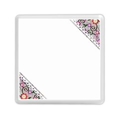 Floral Ornament Baby Girl Design Memory Card Reader (square)  by Simbadda