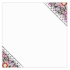 Floral Ornament Baby Girl Design Large Satin Scarf (square) by Simbadda