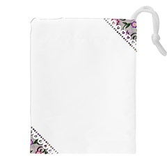 Floral Ornament Baby Girl Design Drawstring Pouches (xxl) by Simbadda