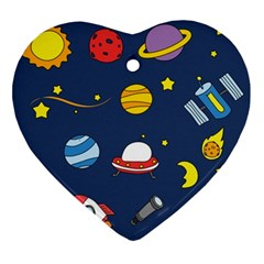 Space Background Design Ornament (heart) by Simbadda