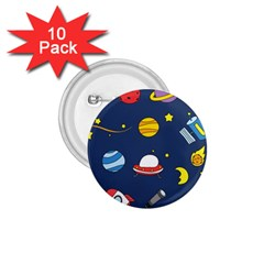 Space Background Design 1 75  Buttons (10 Pack) by Simbadda