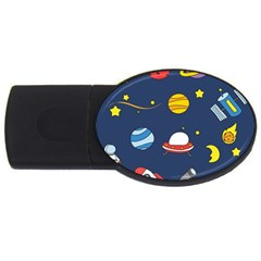 Space Background Design Usb Flash Drive Oval (2 Gb) by Simbadda
