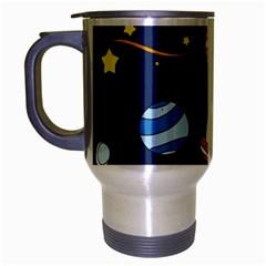 Space Background Design Travel Mug (silver Gray) by Simbadda