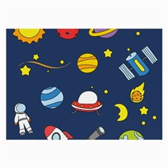 Space Background Design Large Glasses Cloth (2 Side) by Simbadda
