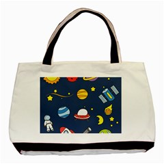 Space Background Design Basic Tote Bag (two Sides) by Simbadda