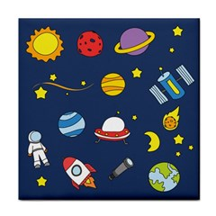 Space Background Design Face Towel by Simbadda