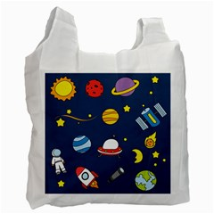 Space Background Design Recycle Bag (one Side) by Simbadda