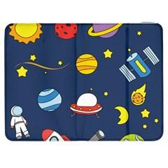 Space Background Design Samsung Galaxy Tab 7  P1000 Flip Case by Simbadda