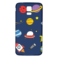 Space Background Design Samsung Galaxy S5 Back Case (white) by Simbadda