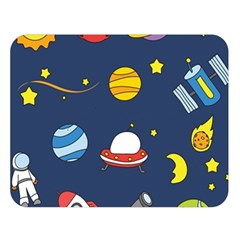 Space Background Design Double Sided Flano Blanket (large)  by Simbadda