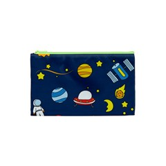 Space Background Design Cosmetic Bag (xs) by Simbadda