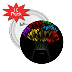Flowers Painting Still Life Plant 2 25  Buttons (10 Pack)  by Simbadda