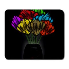Flowers Painting Still Life Plant Large Mousepads by Simbadda