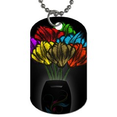 Flowers Painting Still Life Plant Dog Tag (two Sides) by Simbadda