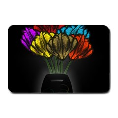 Flowers Painting Still Life Plant Plate Mats by Simbadda