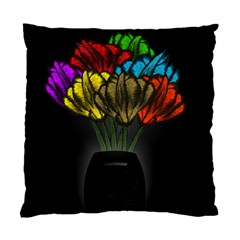 Flowers Painting Still Life Plant Standard Cushion Case (one Side) by Simbadda