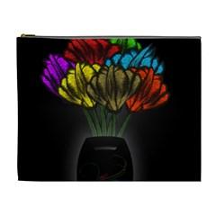 Flowers Painting Still Life Plant Cosmetic Bag (xl) by Simbadda