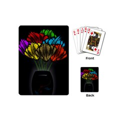 Flowers Painting Still Life Plant Playing Cards (mini)  by Simbadda