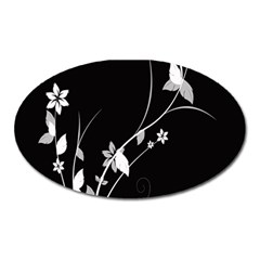 Plant Flora Flowers Composition Oval Magnet by Simbadda