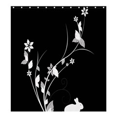 Plant Flora Flowers Composition Shower Curtain 66  X 72  (large)  by Simbadda