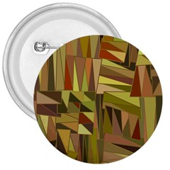 Earth Tones Geometric Shapes Unique 3  Buttons by Simbadda