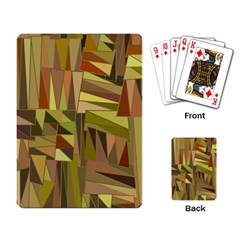 Earth Tones Geometric Shapes Unique Playing Card by Simbadda