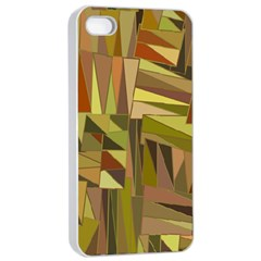 Earth Tones Geometric Shapes Unique Apple Iphone 4/4s Seamless Case (white) by Simbadda