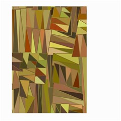 Earth Tones Geometric Shapes Unique Large Garden Flag (two Sides) by Simbadda