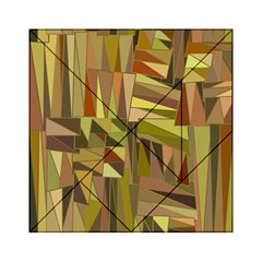 Earth Tones Geometric Shapes Unique Acrylic Tangram Puzzle (6  X 6 ) by Simbadda