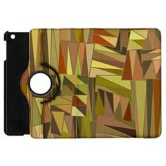 Earth Tones Geometric Shapes Unique Apple Ipad Mini Flip 360 Case by Simbadda