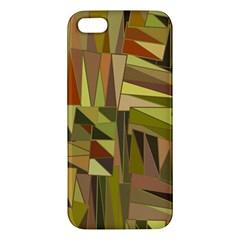 Earth Tones Geometric Shapes Unique Apple Iphone 5 Premium Hardshell Case by Simbadda