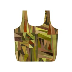 Earth Tones Geometric Shapes Unique Full Print Recycle Bags (s)  by Simbadda