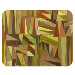 Earth Tones Geometric Shapes Unique Double Sided Flano Blanket (medium)  by Simbadda