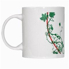 Heart Ranke Nature Romance Plant White Mugs by Simbadda