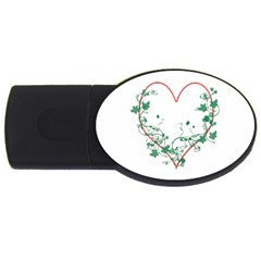 Heart Ranke Nature Romance Plant Usb Flash Drive Oval (2 Gb) by Simbadda