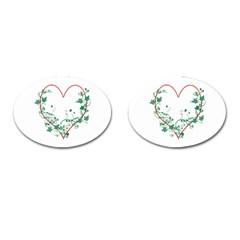 Heart Ranke Nature Romance Plant Cufflinks (oval) by Simbadda