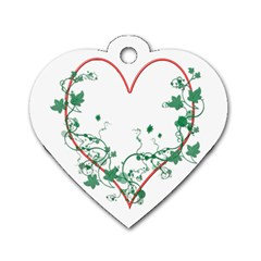 Heart Ranke Nature Romance Plant Dog Tag Heart (one Side) by Simbadda
