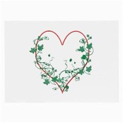 Heart Ranke Nature Romance Plant Large Glasses Cloth (2 Side) by Simbadda
