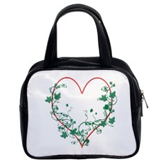 Heart Ranke Nature Romance Plant Classic Handbags (2 Sides) by Simbadda