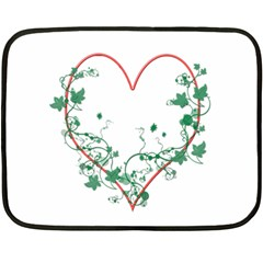 Heart Ranke Nature Romance Plant Fleece Blanket (mini) by Simbadda