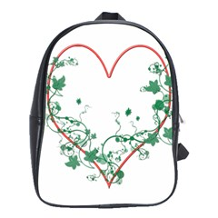 Heart Ranke Nature Romance Plant School Bags(large)  by Simbadda