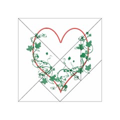 Heart Ranke Nature Romance Plant Acrylic Tangram Puzzle (4  X 4 ) by Simbadda