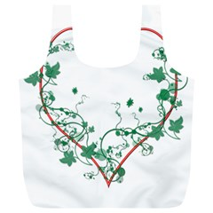 Heart Ranke Nature Romance Plant Full Print Recycle Bags (l)  by Simbadda